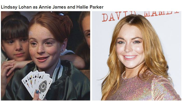 "The Cast Of ""The Parent Trap"" Back In The Day And Today (9 pics)"