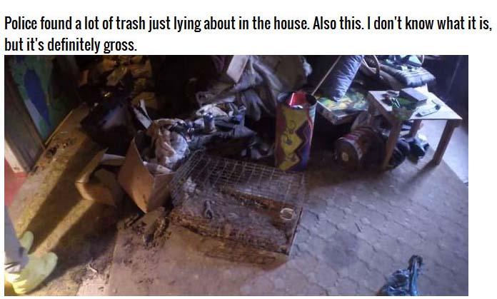 Disturbing Photos From Inside A Murderer's Home (12 pics)