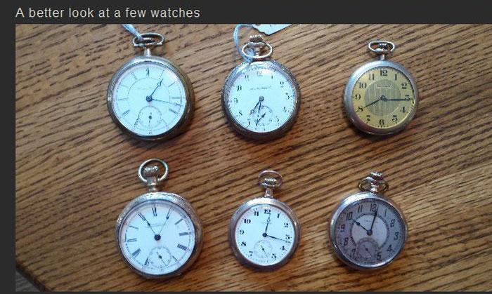 The Ultimate Pocket Watch Stash (17 pics)