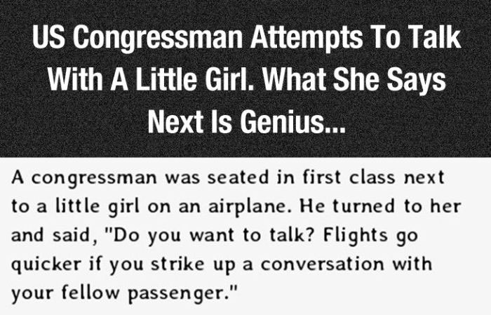 This Little Girl Spoke Some Serious Truth To A Congressman (4 pics)