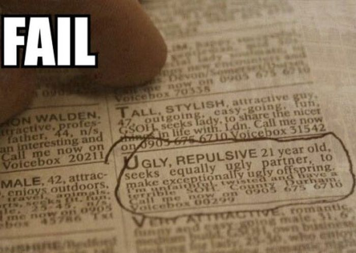 Random And Hilarious Personal Ads (18 pics)