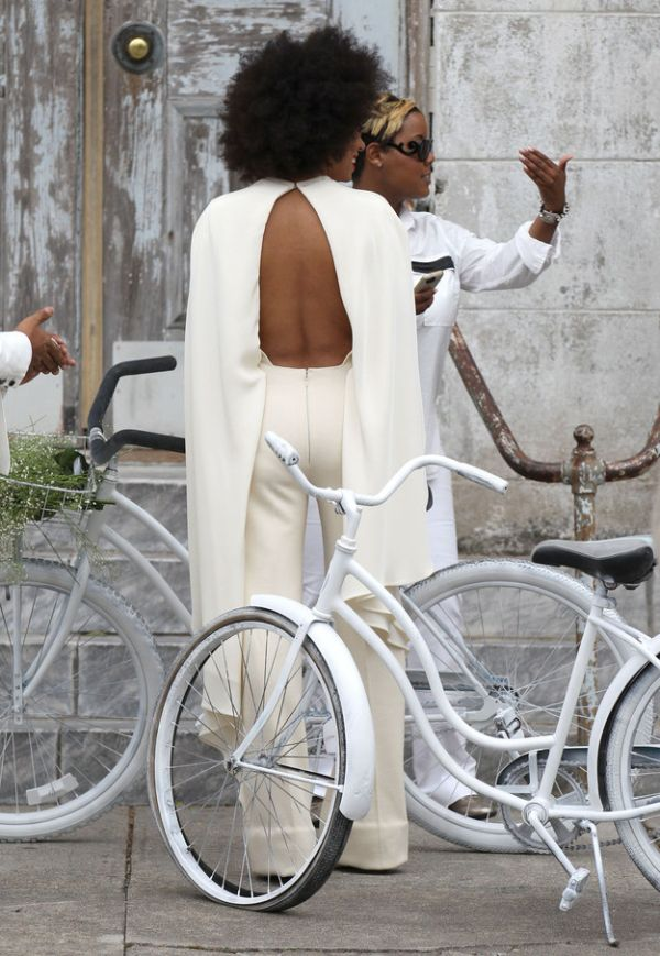 Solange Wears A Special Jumpsuit To Her Wedding (6 pics)