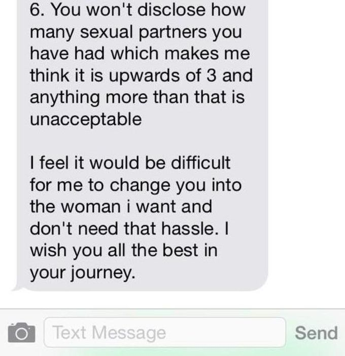 Guy Lays It All On The Line In This Breakup Text (4 pics)
