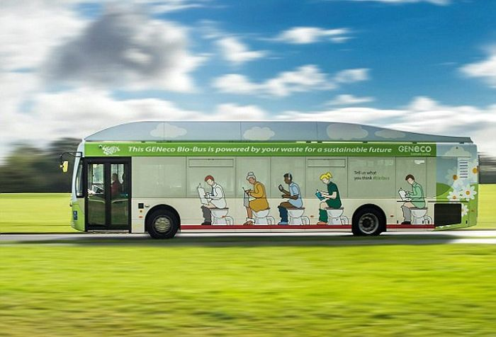 This Bio-Bus Is Powered By Human Waste (5 pics)