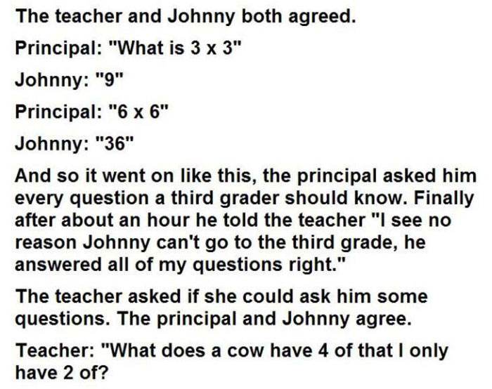 This Kid Said He Was Too Smart For The First Grade (3 pics)