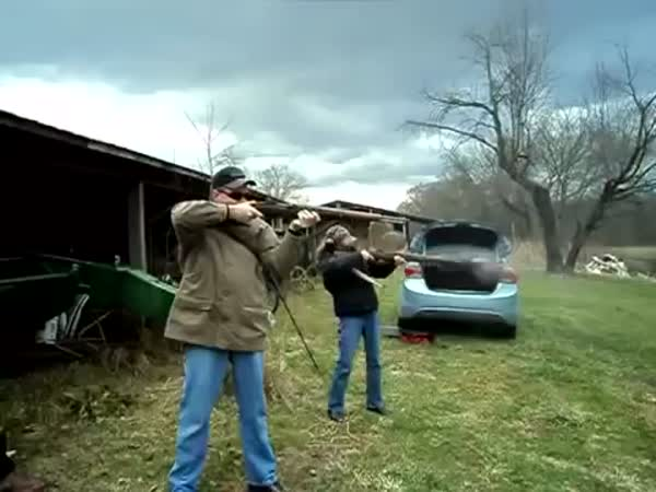 Rifle Explodes In Girls Hands While Shooting