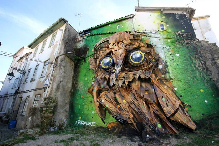 Artist Creates Incredible Owl Sculpture Out Of Junk (6 pics)