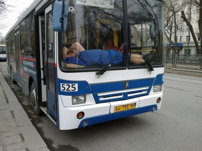 These People Picked The Weirdest Places To Sleep (43 pics)