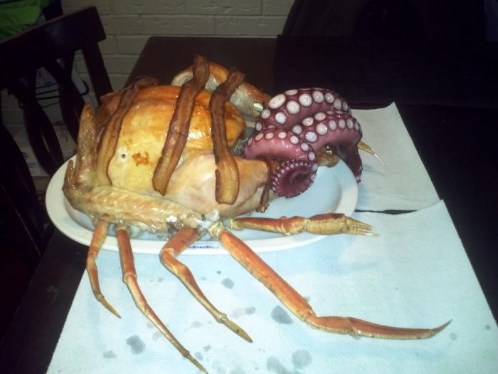This Is A Seafood Turkey (4 pics)
