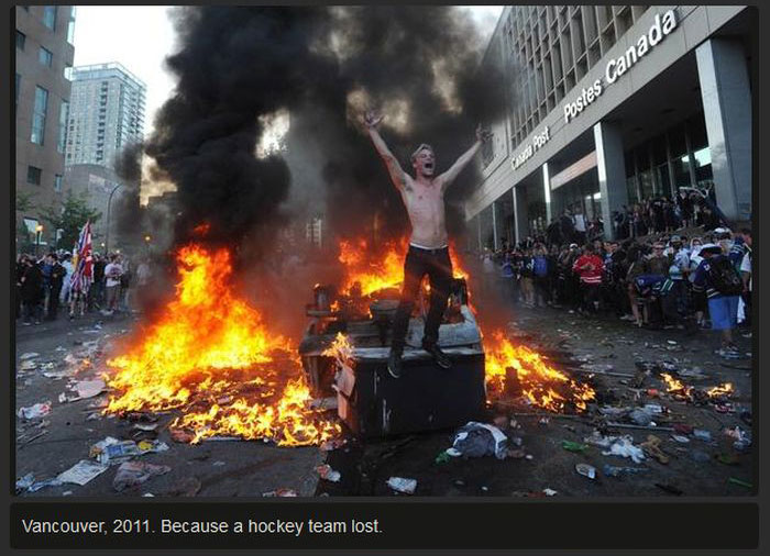 When White People Start Riots For Stupid Reasons (11 pics)