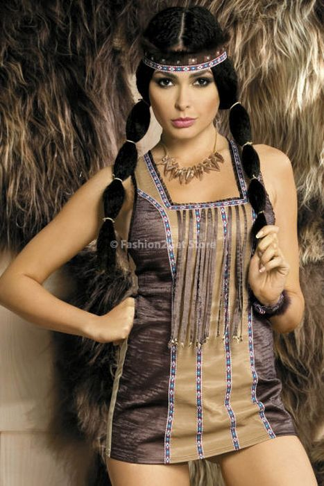 Girls Dressed In Hot Native American Outfits 37 Pics-7983