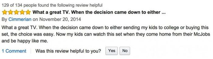 Sarcastic Amazon Reviews For The Most Expensive TV Ever (12 pics)