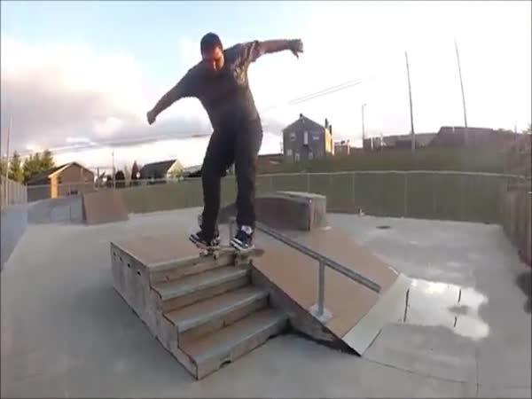Big Sateboarder Got Skills