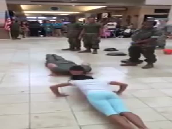 Girl Does More Pushups Than Marine