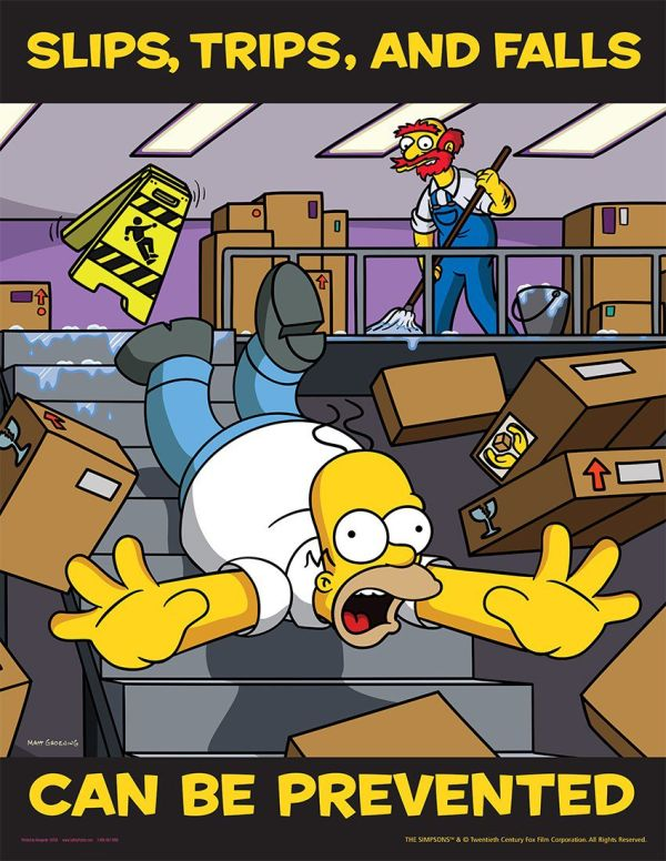 The Simpsons Are Here To Teach You About Work Safety (29 pics)