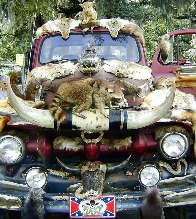 This Truck Is Decorated With 50 Different Animals (10 pics)