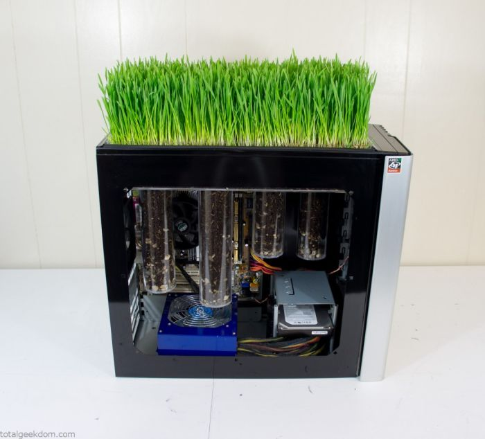 This Working Computer Also Grows Grass (20 pics)