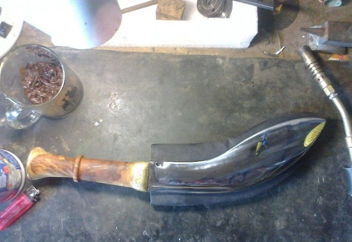 This Is A Beautiful Genuine Homemade Khukuri Knife (49 pics)