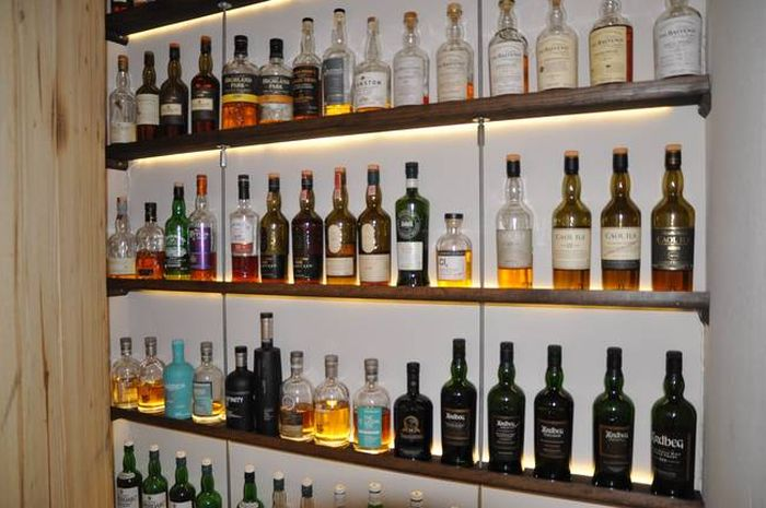 This Guy Definitely Has The Coolest Scotch Collection Ever (8 pics)