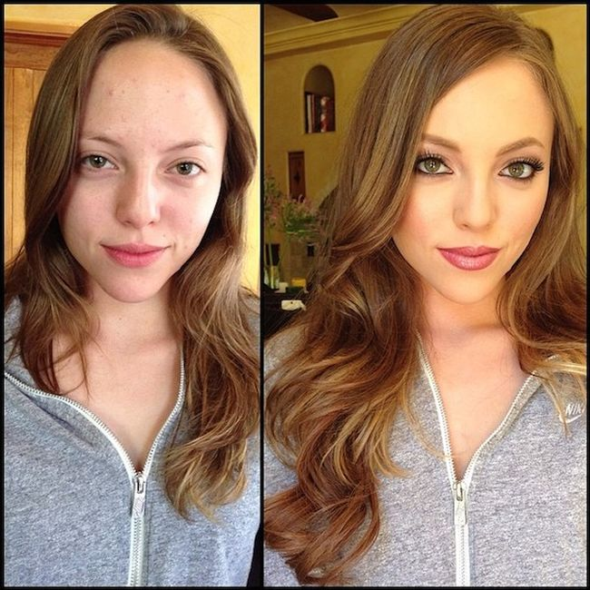 What Female Pornstars Look Like With And Without Makeup (25 pics)