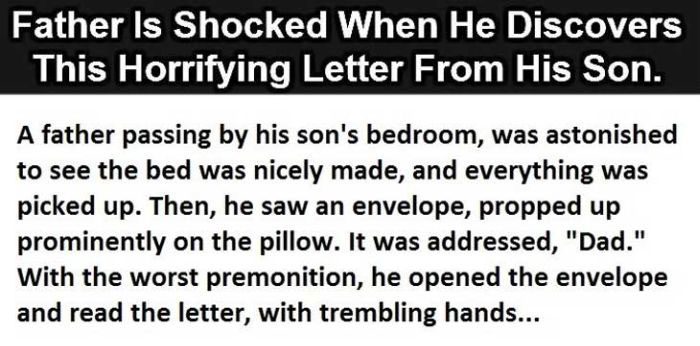 Dad Is Shocked When He Reads His Son's Letter But The Ending Is Perfect (2 pics)