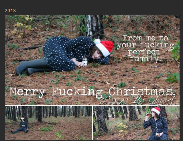Sister Embraces The Single Life With Christmas Cards (5 pics)