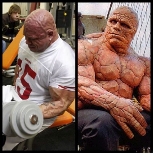 "This Man Looks Just Like Fantastic Four's ""The Thing"" (22 pics)"