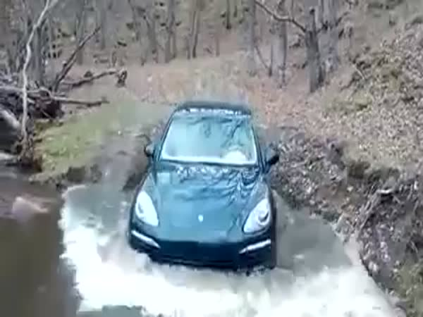 Porsche Cayenne Becomes A Boat