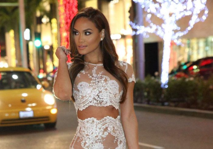 Daphne Joy Steps Out In A See Through Dress (10 pics)
