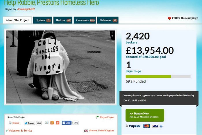 Homeless Man Gave Woman His Last £3 And She Repaid The Favor (4 pics)