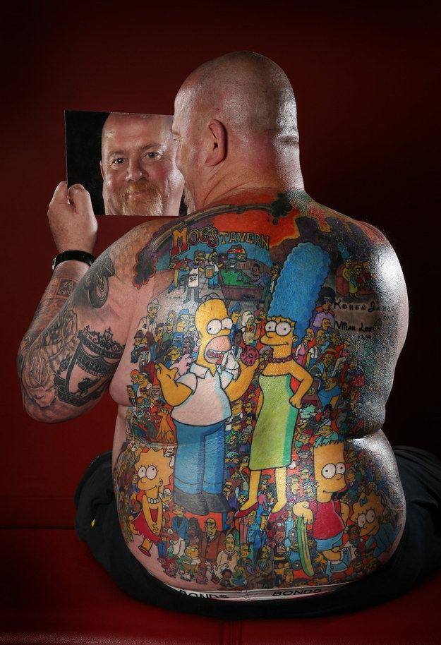 The Coolest Simpsons Tattoo Ever (2 pics)