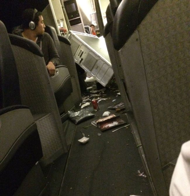 Flight Takes A Turn For The Worst Thanks To Turbulence (8 pics + video)