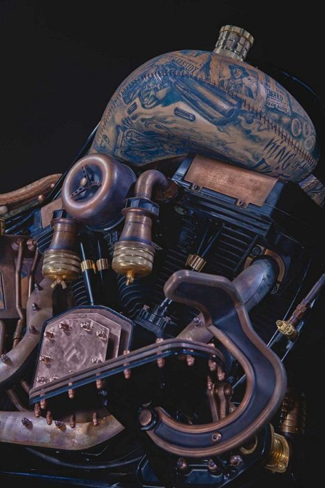 This Motorcycle Is Covered In Tattoos (31 pics)