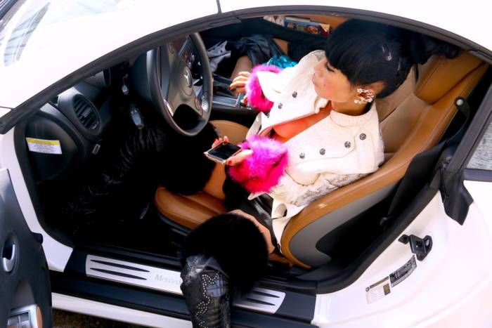 48-Year-Old Bai Ling Went For a Manicure Topless (10 pics)