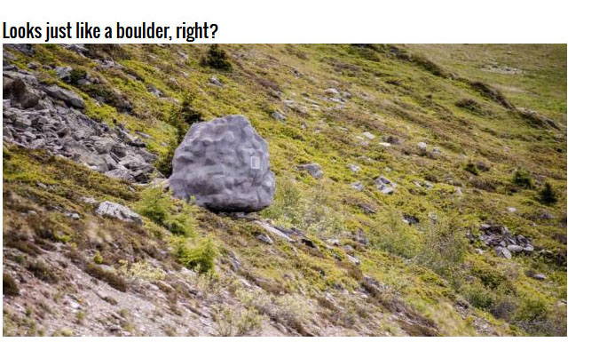 That's Not Really A Boulder, It's Actually A Cabin (9 pics)