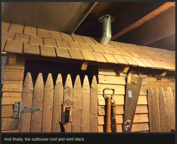 These People Put An Outhouse In Their Basement (10 pics)