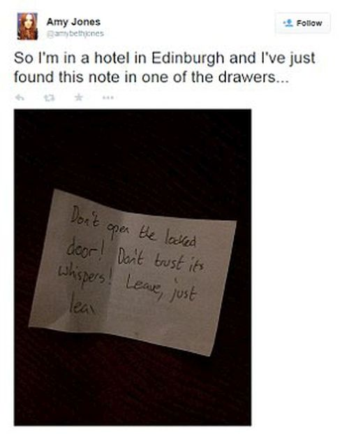 The Creepiest Note Of All Time (4 pics)