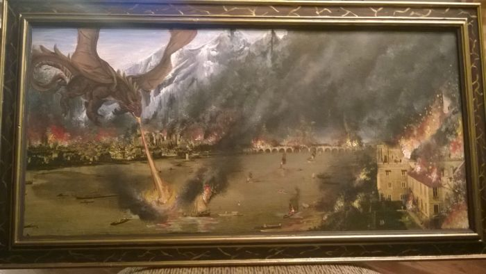 This Thrift Store Painting Has Been Improved Big Time (3 pics)