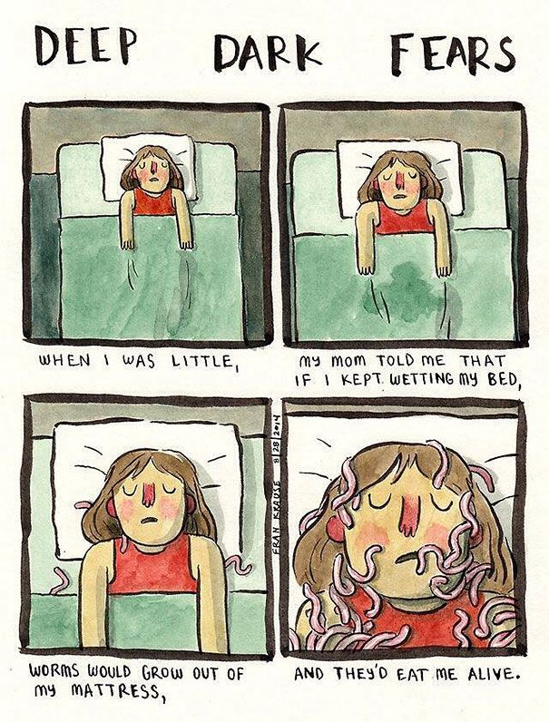 Artist Transforms People's Worst Fears Into Comics (32 pics)