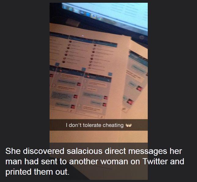 Girl Gives Cheating Boyfriend The Sweet Gift Of Revenge (4 pics)