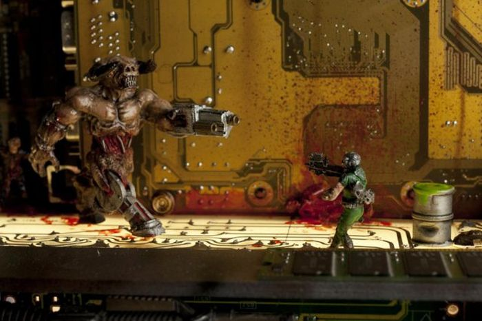 Epic Homemade Sculpture Of The Game Doom 2 (7 pics)