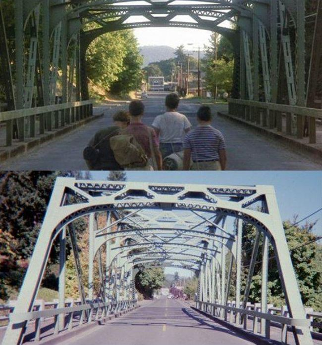 Locations From 'Stand By Me' Back In The Day And Today (19 pics)