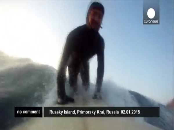 Winter Surfing In Russia