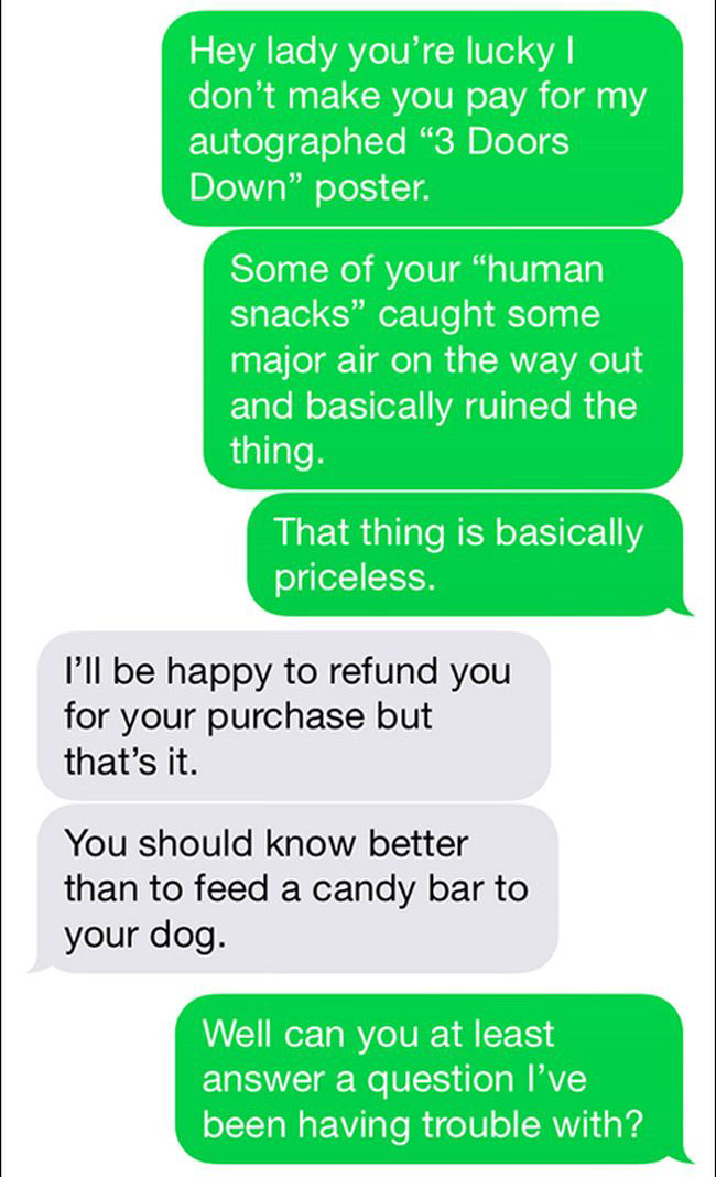 Getting Trolled Over Dog Treats (10 pics)