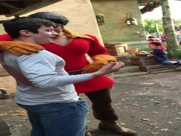 Gaston Humbles Tourist During Push Up Contest