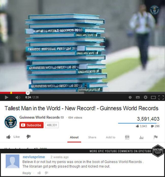 The Top 25 Best YouTube Comments Of 2014 (25 pics)