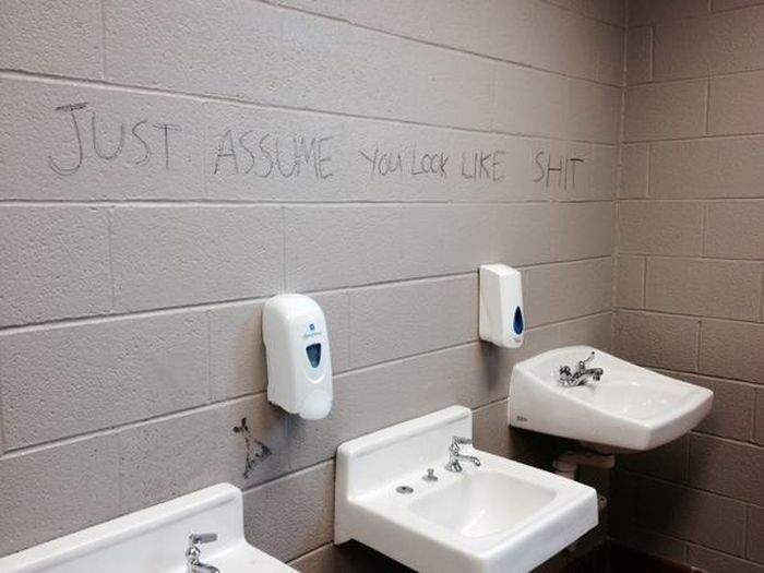 Sometimes The Bathroom Has Hilarious Signs (24 pics)