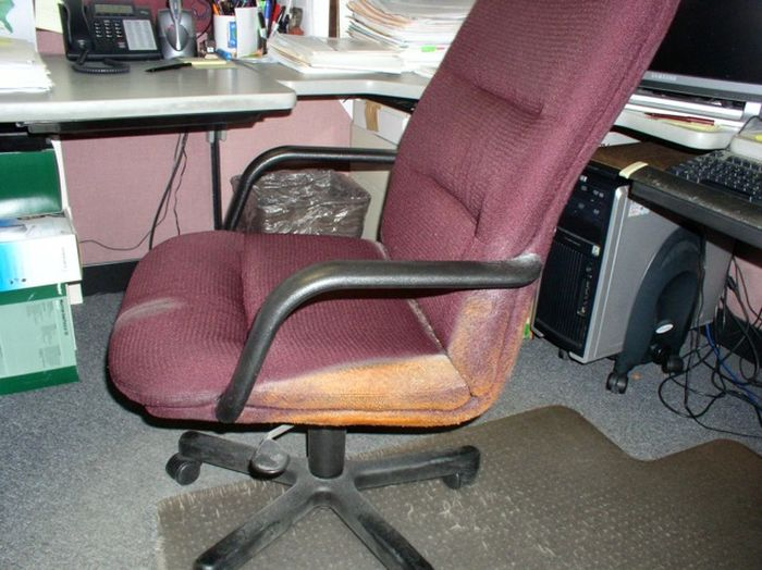 This Chair Was Covered In Cheetos For Many Years (3 pics)