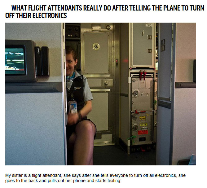 Confessions From Pilots and Flight Attendants (14 pics)