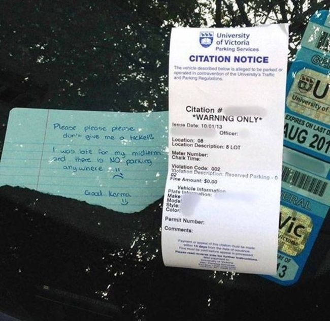 How To Get Out Of A Parking Ticket In Canada (2 pics)